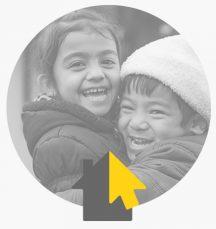 شعار تذييل الصفحة مع الأطفال